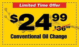 $12 off conventional oil change Coupon