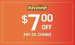 7 off any oil change Coupon