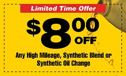 $8 off premium oil change Coupon